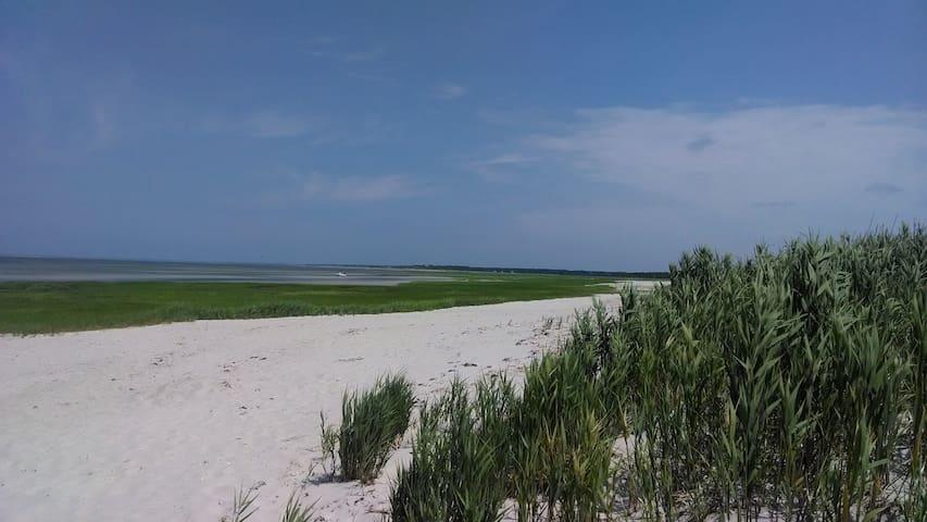 Bay beach at Rock Harbor