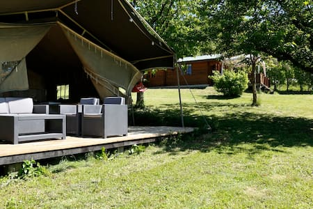 Luxury Lodgetent on holidaypark with swimming pool - Bonvicino