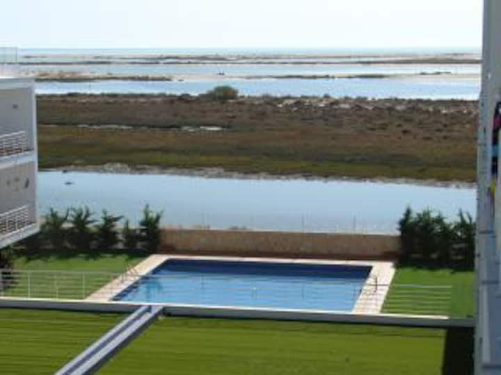 Apartment with fantastic view over the Ria Formosa