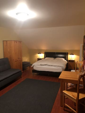Large Double Bedroom #2 @ Crowsnest Vineyards