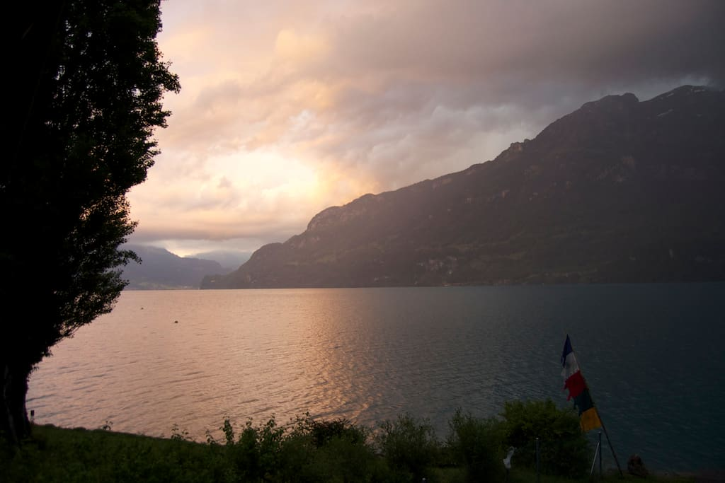 Atmebraubende Aussicht wo sich immer wieder wunderschöne Naturspektaekl abspielen.