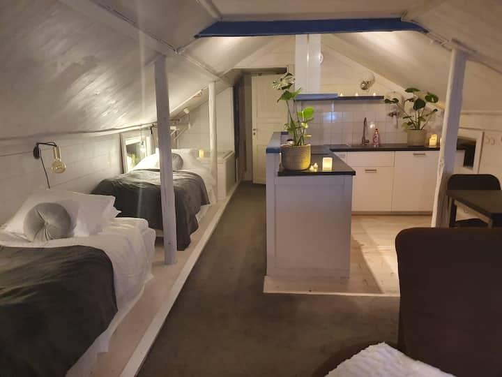 Lugnets hotellägenhet-central vindsvåning Leksand
