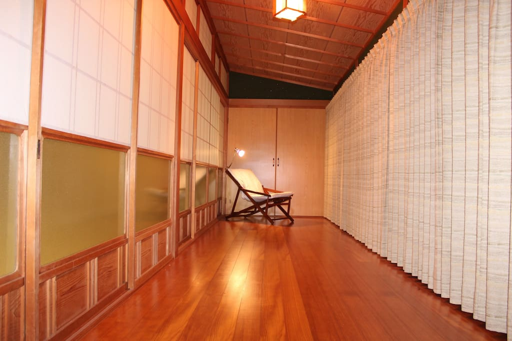 Shoji Screens, wooden floors, large front windows