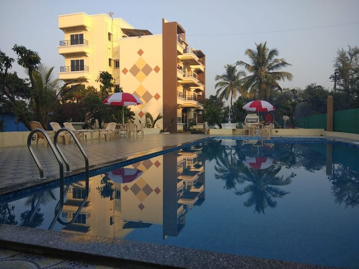 alibag holiday apartments with swimming pool