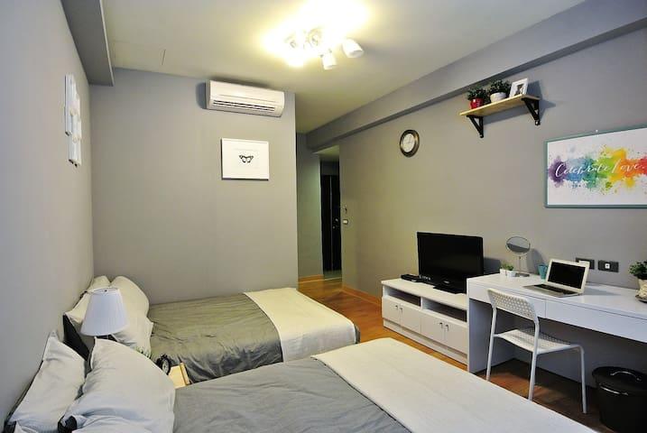 HELLO Inn-Room Abstract MRT Zhongxiao Dunhua 5mins