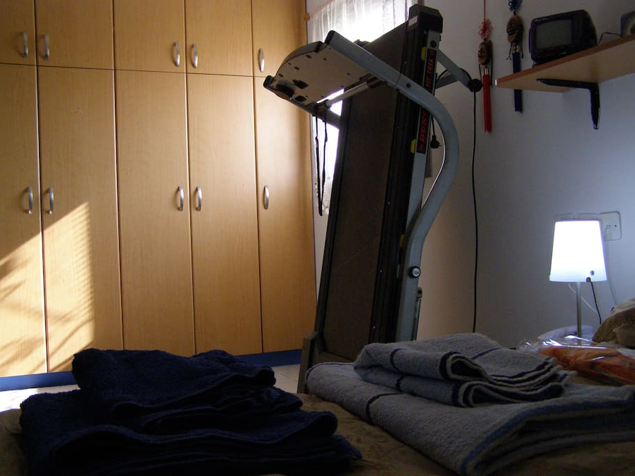 Second bedroom with treadmill