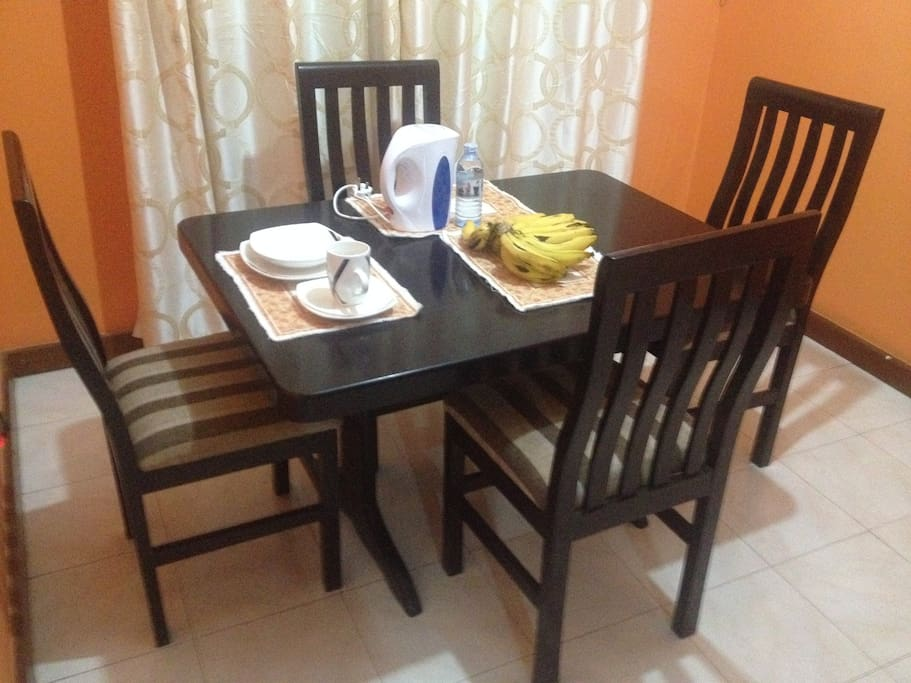 Fully Furnished Interior - Kitchen and Dinning