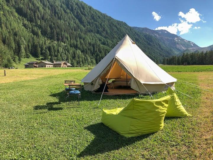 Tenda Glamping ai piedi del Monte Bianco