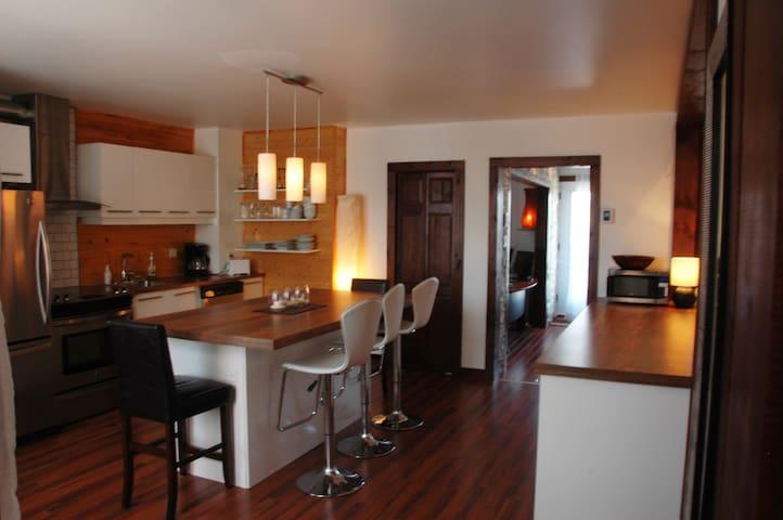 Cuisine à aire ouverte / open-plan area kitchen