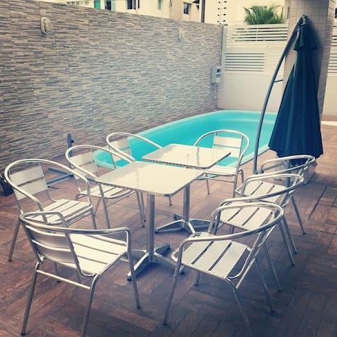 Quarto confortável em Intermares - 卡貝德盧(Cabedelo) - 公寓