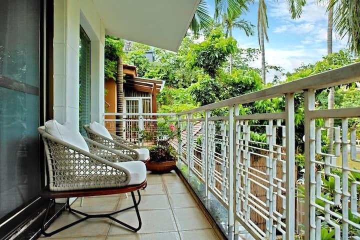 春節來依山傍海的蛇口度假,和家人一起住花園別墅獨立庭院