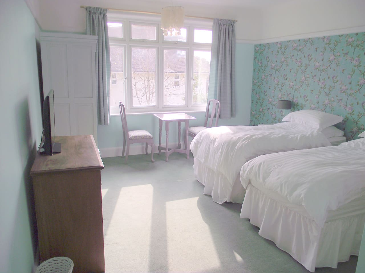 Large airy room, zip & link bed so can be twin or large double.
