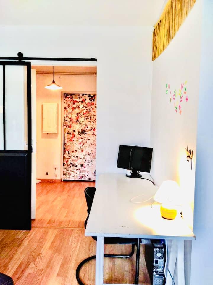 Appartement cosy avec jardin