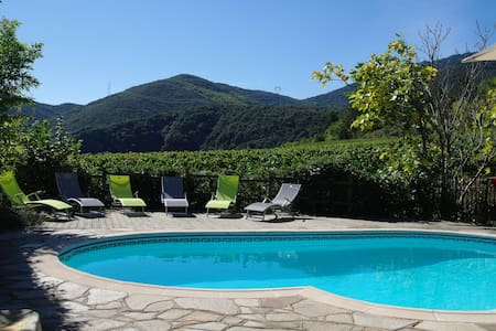 Villa, private pool, amazing views! - Mons - 独立屋