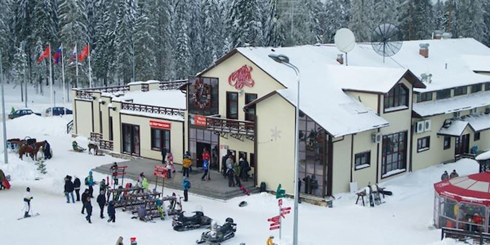The cottage at the ski resort Igora