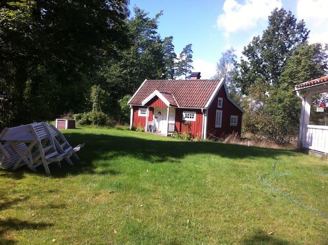 Mysigt hus mitt i naturen - Älmhult - Casa