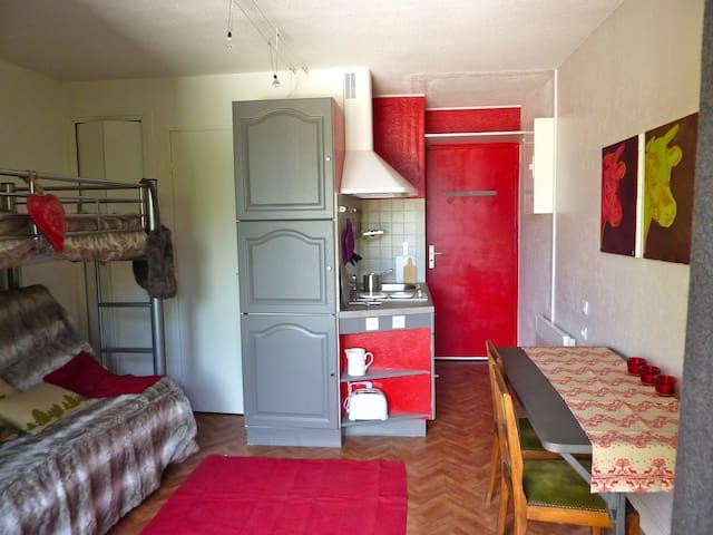 Studio meublé station le Sauze - Enchastrayes - Apartmen