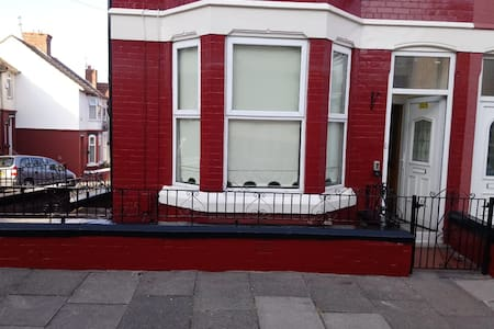 House with a view across the river Mersey