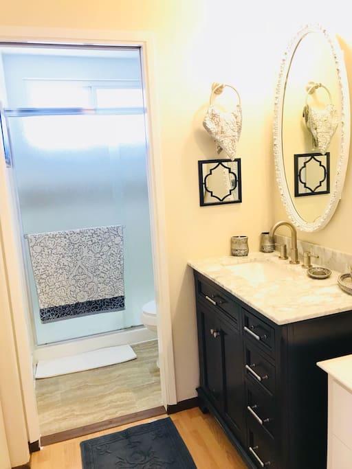 New Vanity and Bath