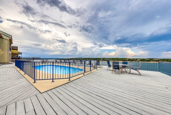 Lakefront condo w/ a shared pool, hot tub, & boat slip!