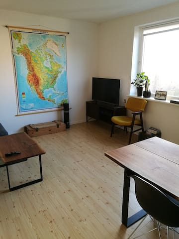 Cozy apartment near city center - free parking