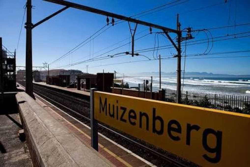 15 minute walk to Sunrise and Muizenberg Beach front