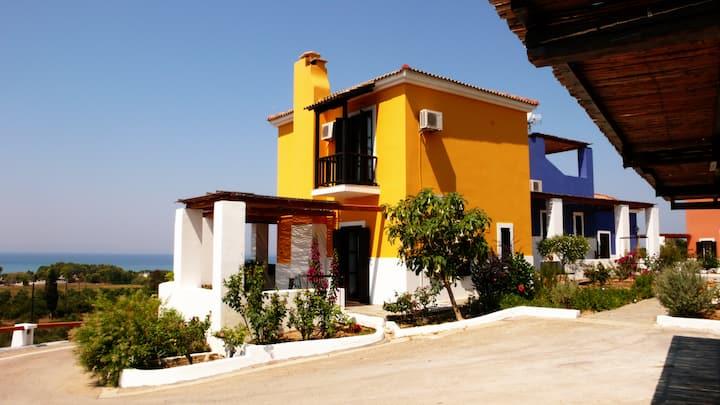 OLENOS (yellow maizonette villa)