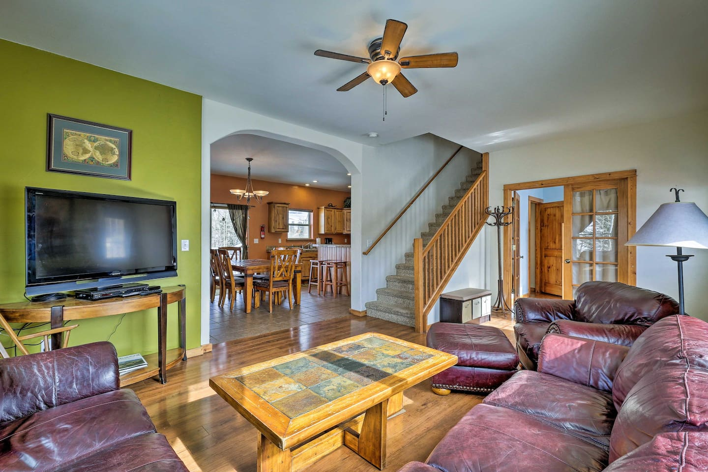 The inviting living area is the perfect space to convene as a family.