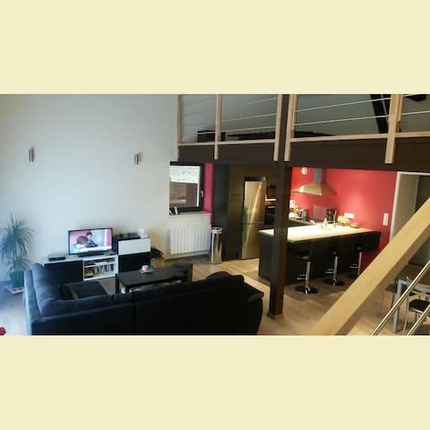 Maison de 80m2, au calme, 30km Lyon - Thurins - Huis