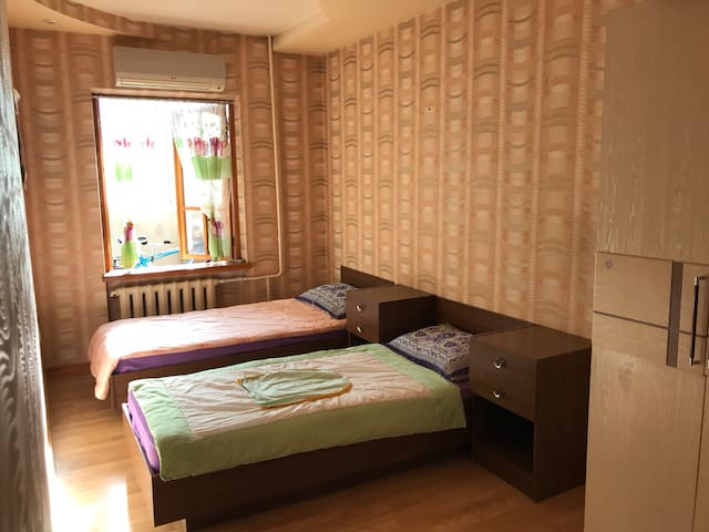 Private room for 2 in apartment on Pushkin street.