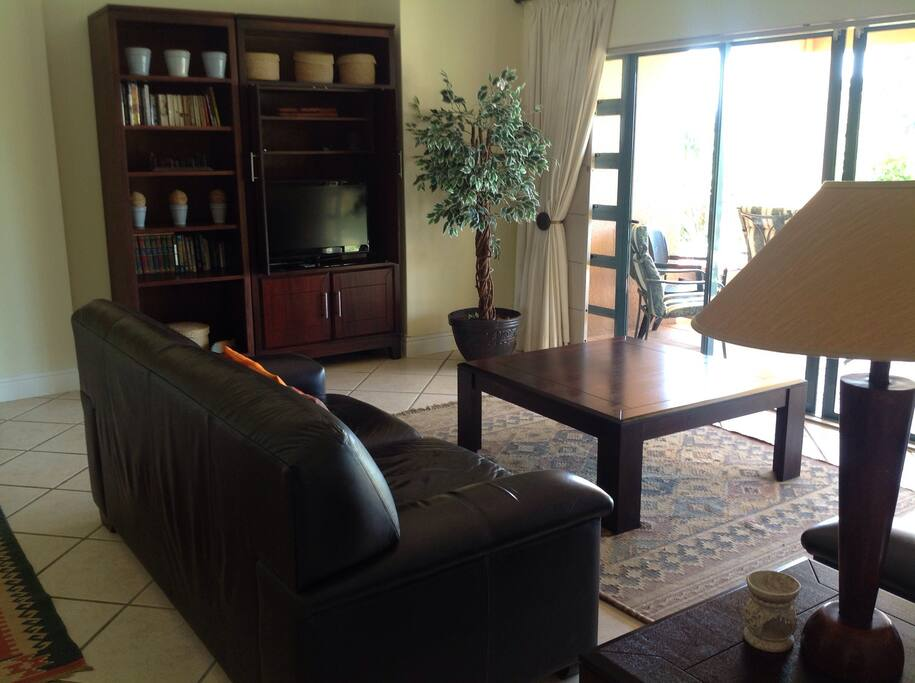 Family room on main floor leading out to patio