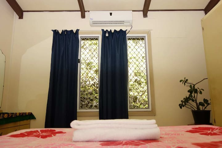 Your private room comes with air conditioning