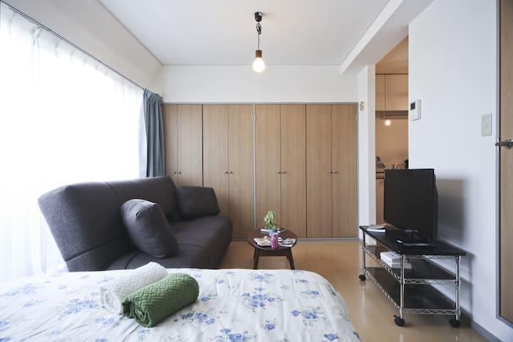 Central Spacious Quiet w/View EasyAccess/Airports - Shibuya-ku - Departamento