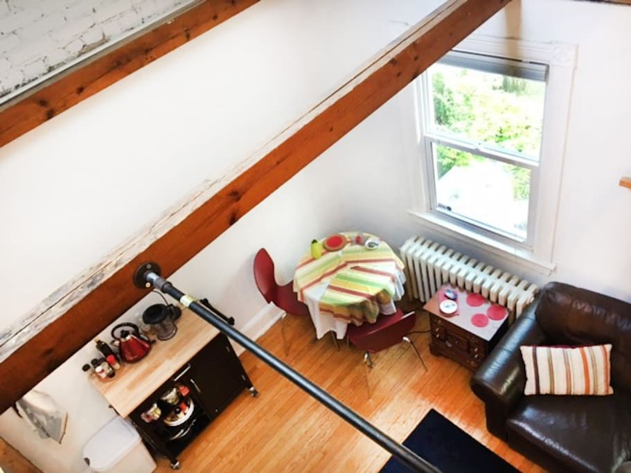 Looking down from Bedroom Loft