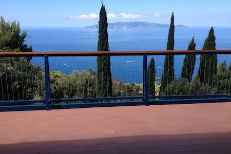Terraced house with beautiful panoramic view - Monte Argentario - Casa adossada