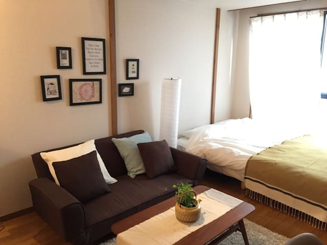 FREE★Bike★WiFi★ 5min to the station #1C - Fukuoka-shi - Appartement