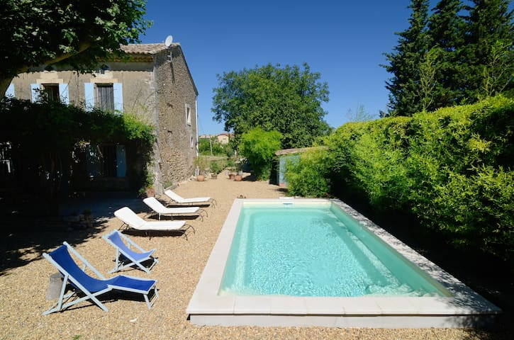 Luberon, traditional house and pool