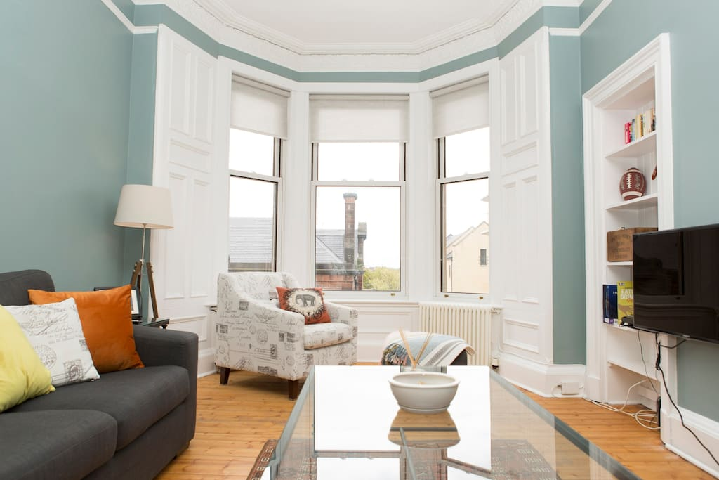 Large bay windows make you feel at home