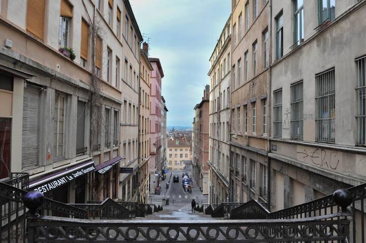 Chambre privée dans appart Canut Lyon 1er / Pentes