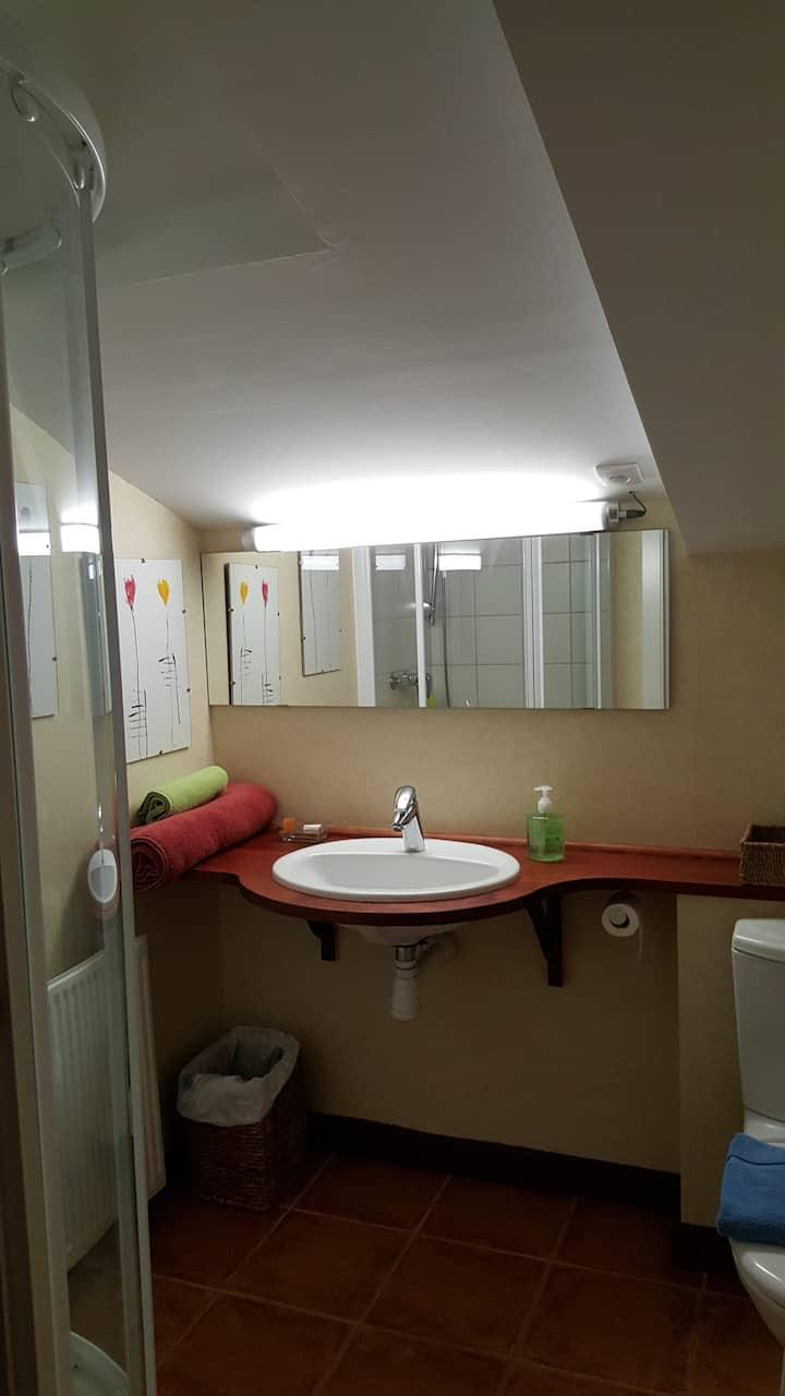 Habitacion doble con baño numero 3.