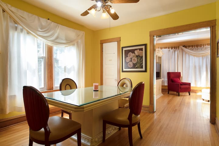 Spacious with lots of natural sunlight.