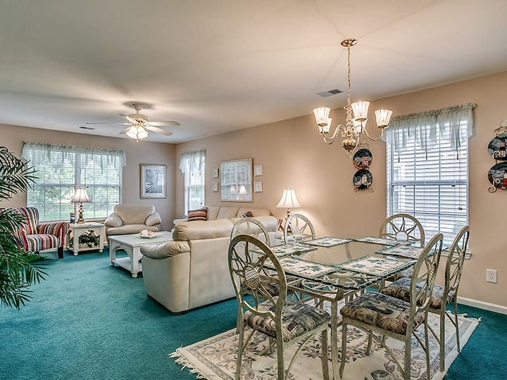 Suite Carolina II 1st Floor Condo in True Blue ready for the Course or the Beach!