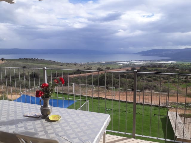 Tranquillo and View to the SEA OF GALILEE!