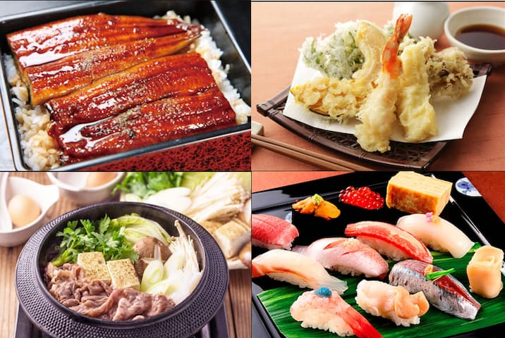 Japan has four distinct seasons and a large amount of precipitation. For this reason, foods such as vegetables, fruits, fish and shellfish, and seaweeds are abundant as well as types.