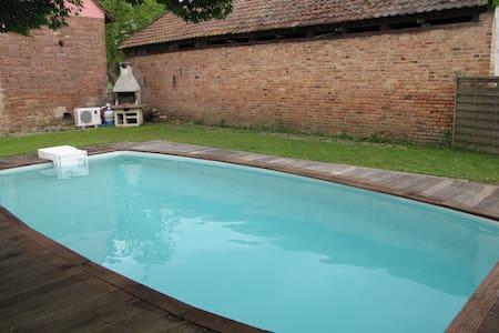 gite 5 pers piscine près strasbourg - Ingenheim