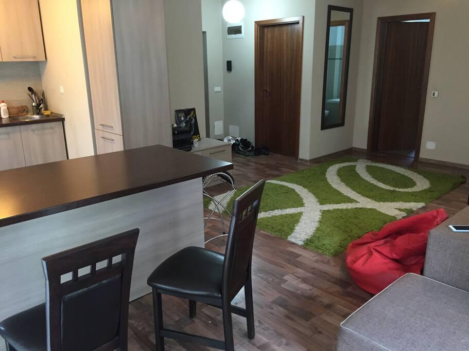 Livingroom/Kitchen space