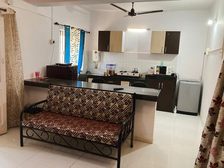 Modern 1bhk with pool in  siolim