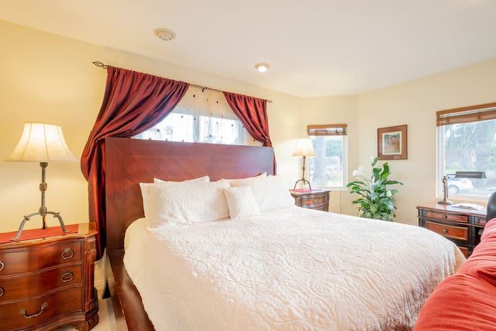 Beach Getaway Master Bedroom in Home w/ Ocean View