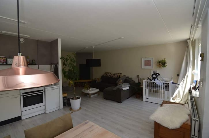 Apartment with garden, 10 m from beach with bike - Heiloo - Daire