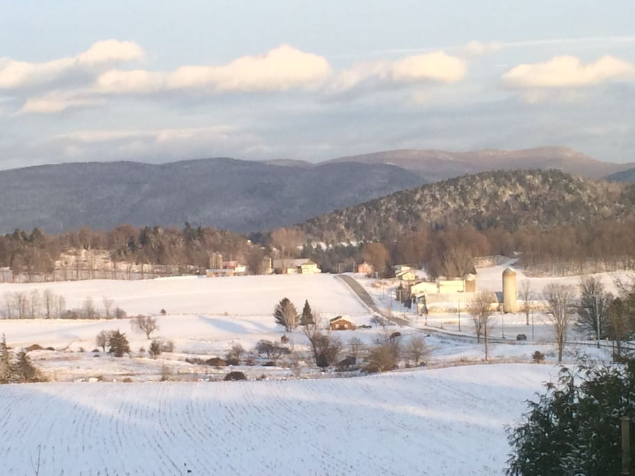Winter time in Monkton- view east.